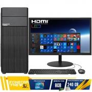 Computador Completo Intel Core i5 8gb SSD 240GB Monitor Wifi