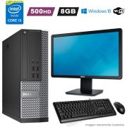 Computador i5 3470 8GB HD 500GB Completo c/ Monitor Wifi Win10 Dell 7010