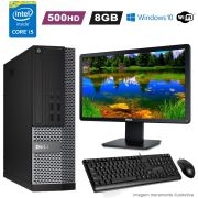 Computador i5 4590 8GB HD 500GB Completo c/ Monitor Wifi Win10 Dell 7020