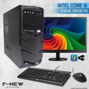 Computador Intel Core I5  4gb 500hd Completo C/ Monitor Wifi Win7