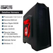Cpu Completa Pc Gamer I5 8gb Ssd 120gb Hd500 Placa De Video