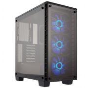 Gabinete Gamer Infinity de Azul MXTC 903 Azul com Led