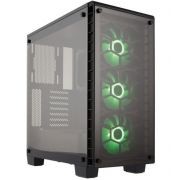 Gabinete Gamer Infinity de Vidro MXTC 903 Verde com Led