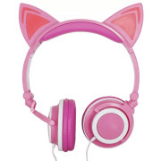 HEADPHONE ORELHA DE GATO COM LED ROSA - HF-C22
