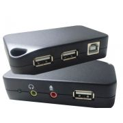 HUB 3 PORTAS USB 2.0 C/ AUDIO