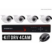 Kit Dvr 4 Canais Com 04 Câmeras HD Showtec