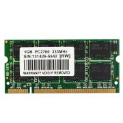 Memoria 01GB DDR Pc2700 (333MHZ) Notebook