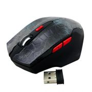 MOUSE WIRELESS 6 BOTÕES MAXXTRO JM-6021 PRETO