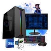 Pc Computador Gamer Completo I5 8gb 1tb Monitor Placa De Video Teclado