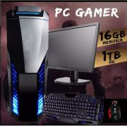 Pc Gamer A10 7860k 16gbm. 1tb Hd R7 240 2gb C/ Monitor + Kit Gamer