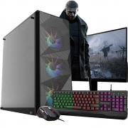 Pc Gamer Completo I5 9400F Geração 8gb Ssd 240 1tb Placa De Video Monitor