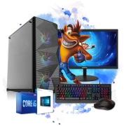 Pc Gamer Completo Intel I5 8GB HD 500 Placa De Vídeo Monitor