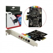 PLACA DE SOM PCI-EXPRESS DP-65 DEX 5.1 COM 6 CANAIS