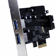 Placa Pci-Express 2 Usb 3.0 19 Pinos Dp-23 Dex