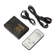 Switch hdmi 3 Portas 4k Com Controle Exbom