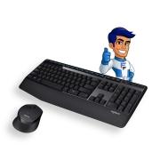 Teclado e Mouse S/Fio Logitech MK345 Preto