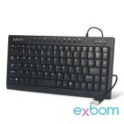 TECLADO USB MINI BK-M57 MULTIMIDIA EXBOM