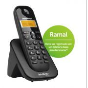 Telefone S/Fio TS-3111 Preto Digital Intelbras Ramal