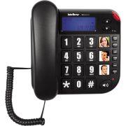 Telefone Tok Facil ID Preto Intelbras