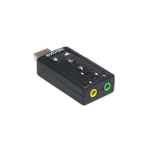 Adaptador de Som USB 7.1 Canal Virtual Exbom