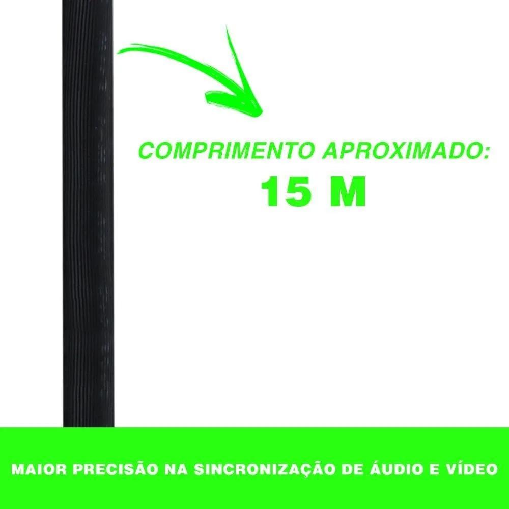 Cabo Vga 15m Monitor Lcd Pc Tv Projetor 15 Metros