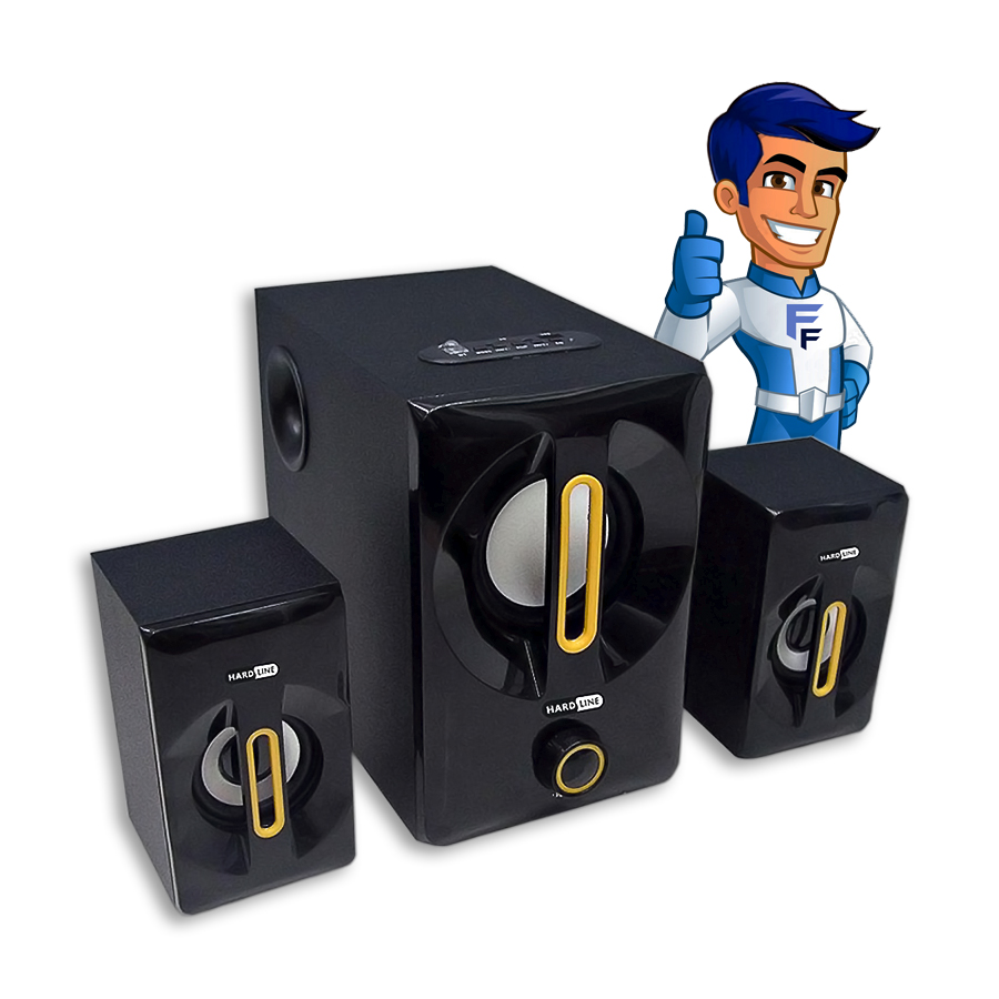 Caixa de som Bluetooth W815 2x1 25w Hardline