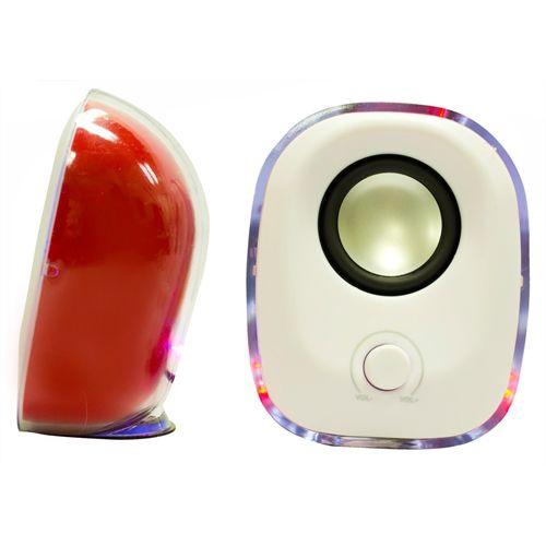Caixa de Som Sp 018u-5psr Vermelho Pixxo