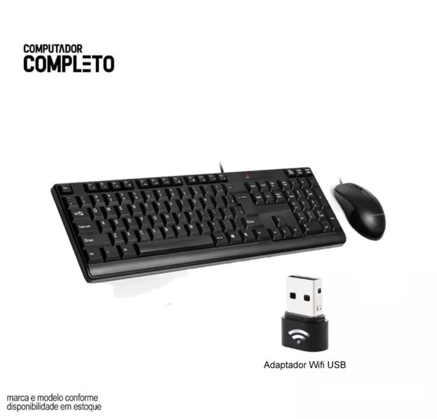 Computador Completo 4GB Hd 500GB Hdmi Win7 Wifi Monitor