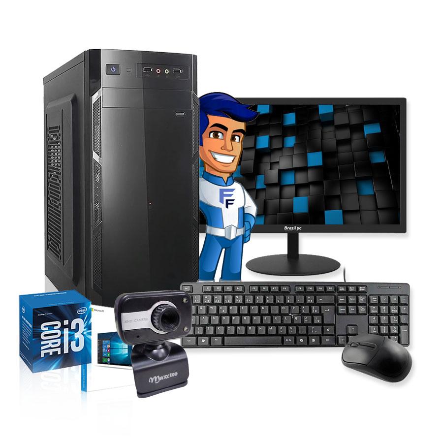 Computador Completo Com Webcam Intel Core I3 8GB HD 500GB