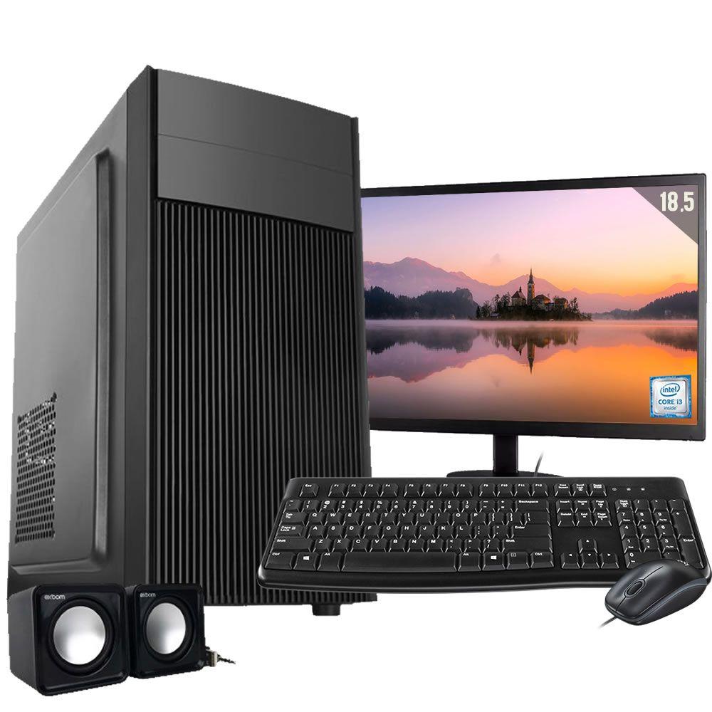 Computador Completo Core I3 8gb Hd 500gb Wifi Monitor