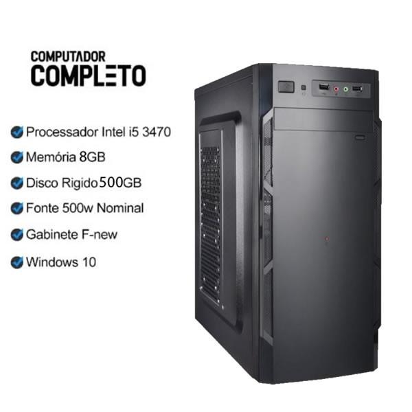 Computador Completo I5 3470 8GB HD 500GB Monitor