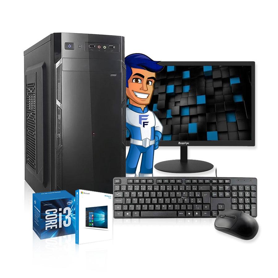 Computador Completo Intel Core I3 8gb Hd 500gb Mouse Monitor