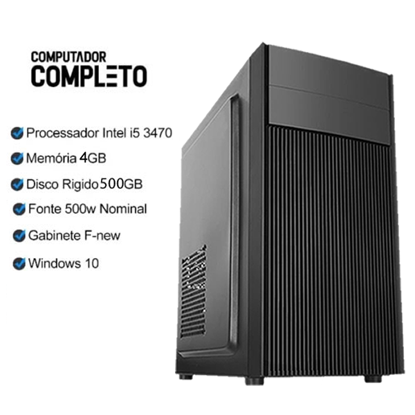 Computador Completo Intel Core i5 4gb HD 500gb Wifi Monitor