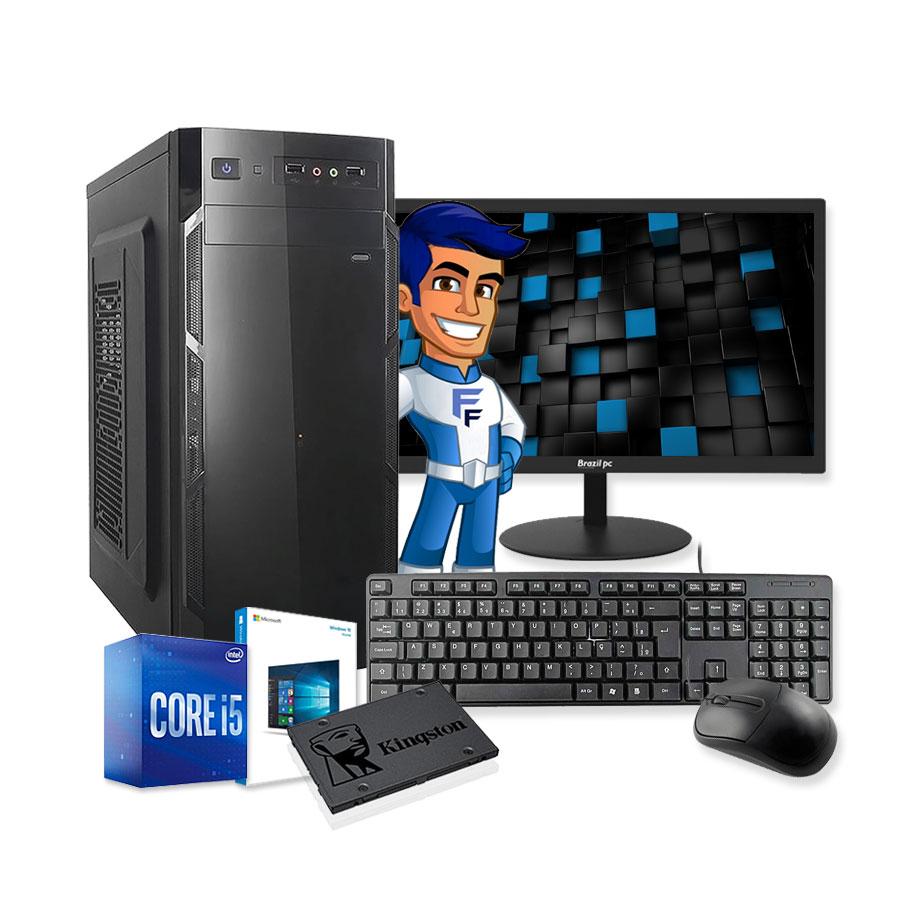 Computador Completo Intel Core i5 8GB SSD 120GB Monitor HDMI