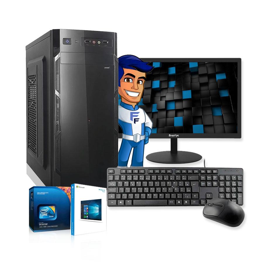 Computador Completo Intel Dual Core 4GB HD500GB Monitor Wifi