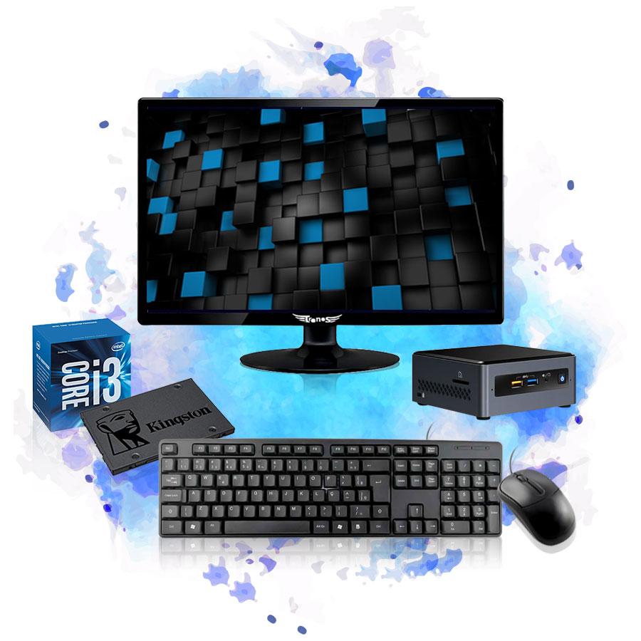 Computador Completo Mini Cpu Nuc Intel Core i3 8GB SSD 240GB