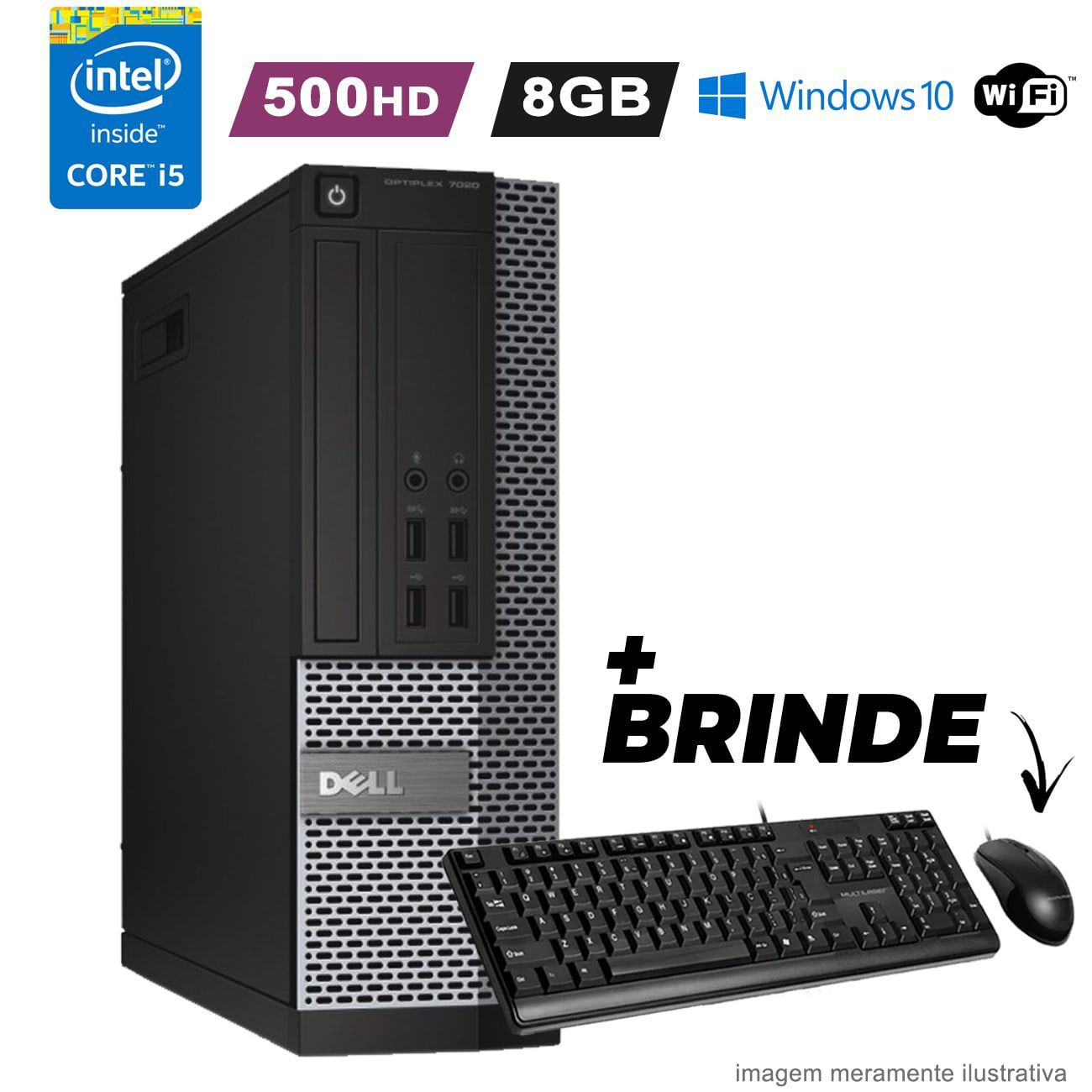 Computador Dell i5 4590 8GB HD 500GB Wifi Win10 Promoção