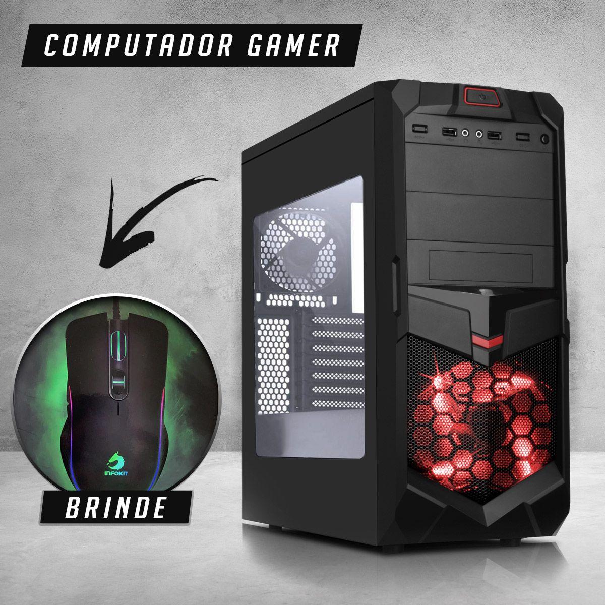 Computador Gamer Intel Core i5 8GB Mem 500G Hd VGA 2GB DDR3 Hdmi