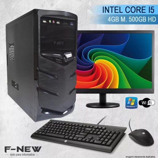 Computador Intel Core I5  4gb 500hd Completo C/ Monitor Wifi Win7