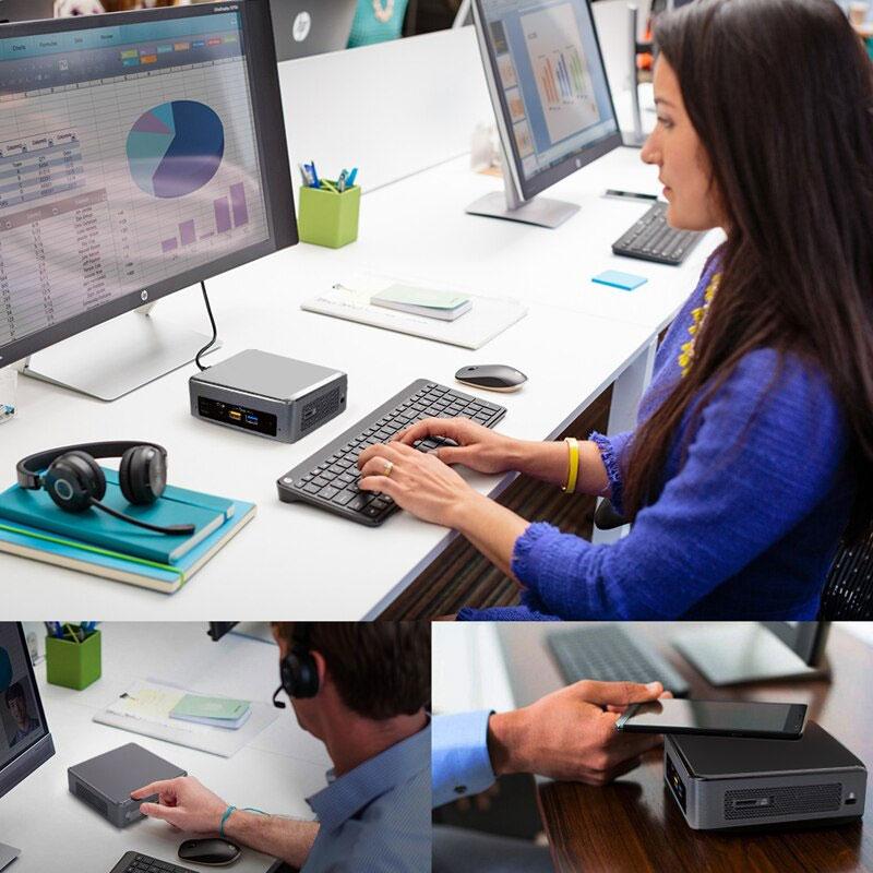 Computador Mini Cpu Nuc Celeron 4GB SSD 32 HDMI Wifi