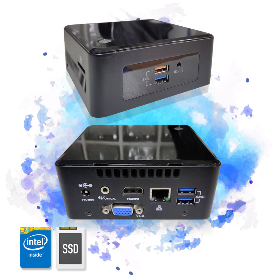 Computador Mini Cpu Nuc Intel Pentium 8GB SSD 120GB Wifi
