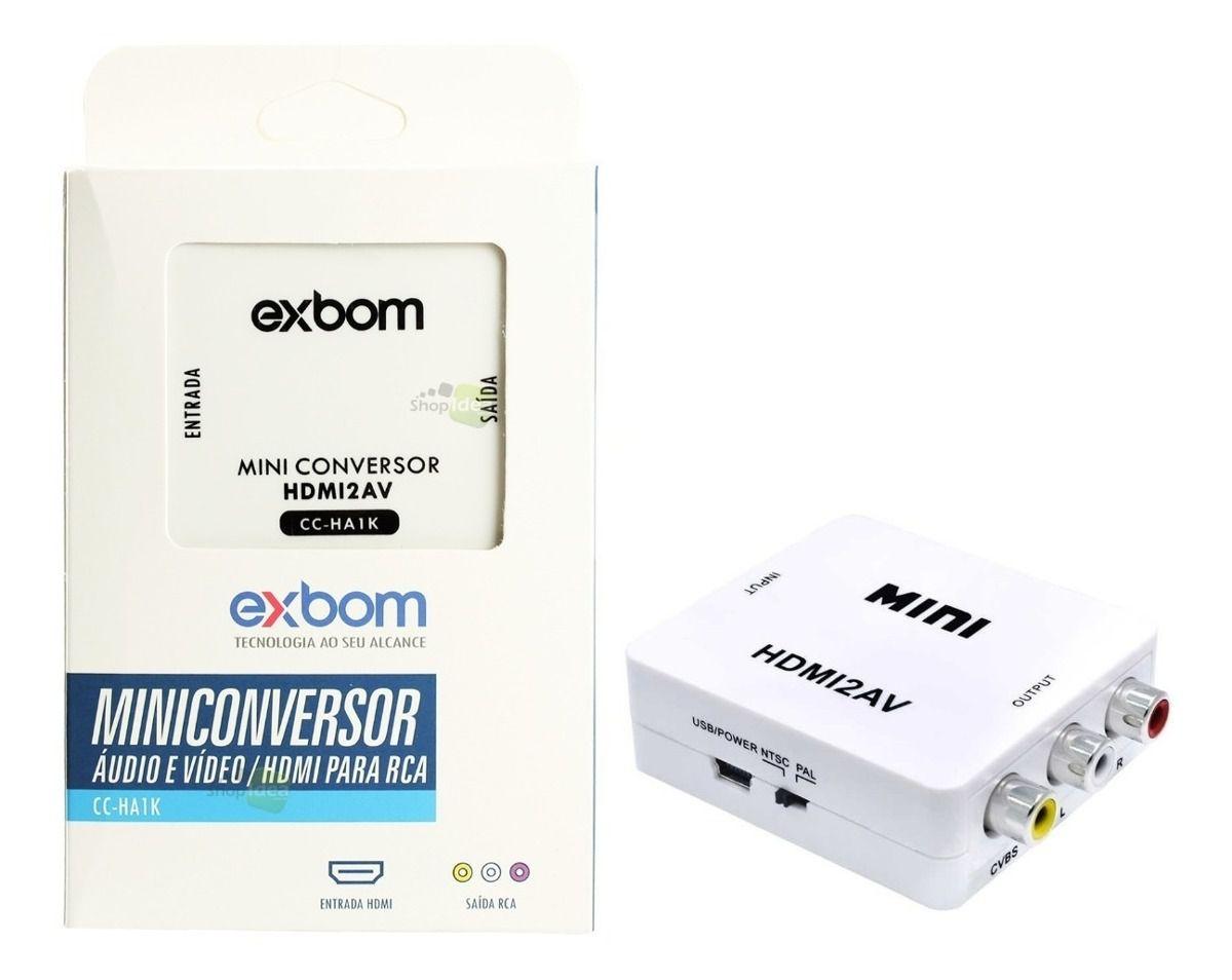 Conversor RCA 3 Pontas Para HDMI EXBOM