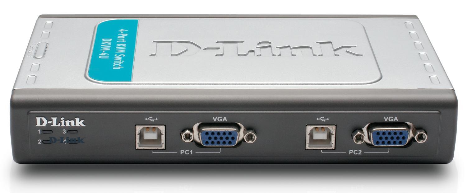 D-Link KVM 4 Portas com USB 2.0 DKVM-4U