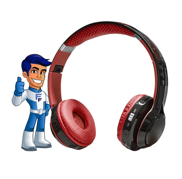 Fone Bluetooth Vermelho HF 420BT  Exbom