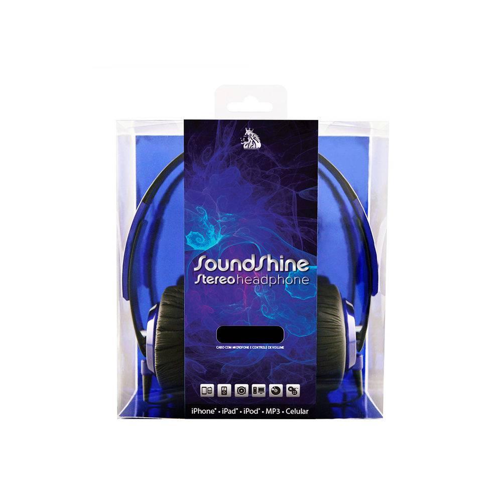 FONE DE OUVIDO C/ MICROFONE EP-400 AZUL SOUNDSHINE STEREO