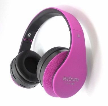 Fone Exbom Bluetooth HF 440 BT Rosa