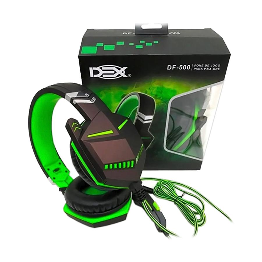 Fone Headset Gamer Dex com Microfone DF-500