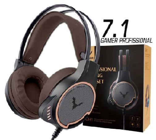 Fone Headset Gamer Profissional 7.1 Usb Black Estofado Wesdar