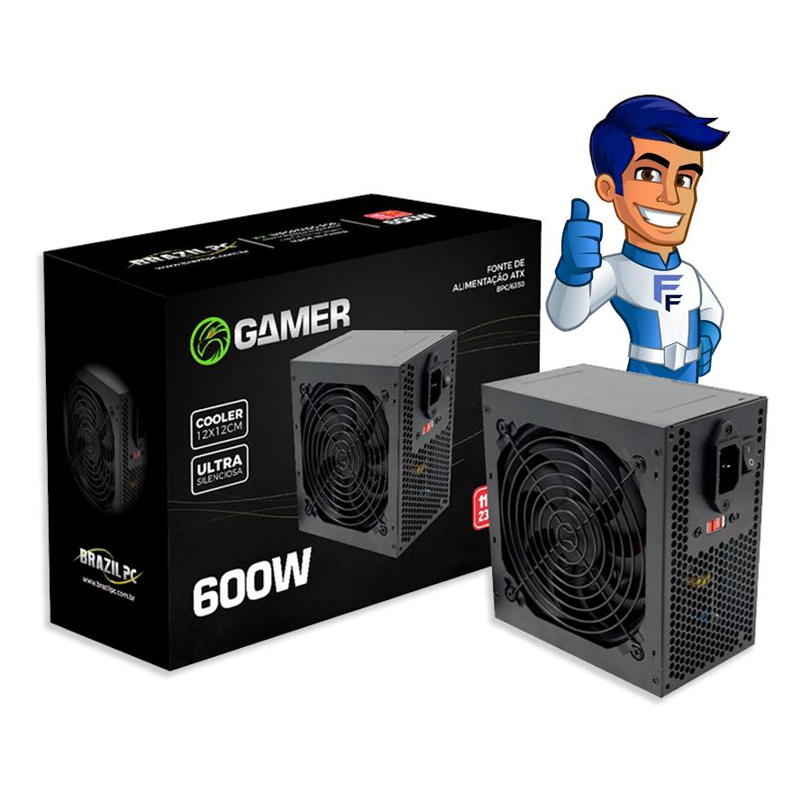 Fonte ATX 600 Watts Real BPC-6350 Bivolt  BrazilPc