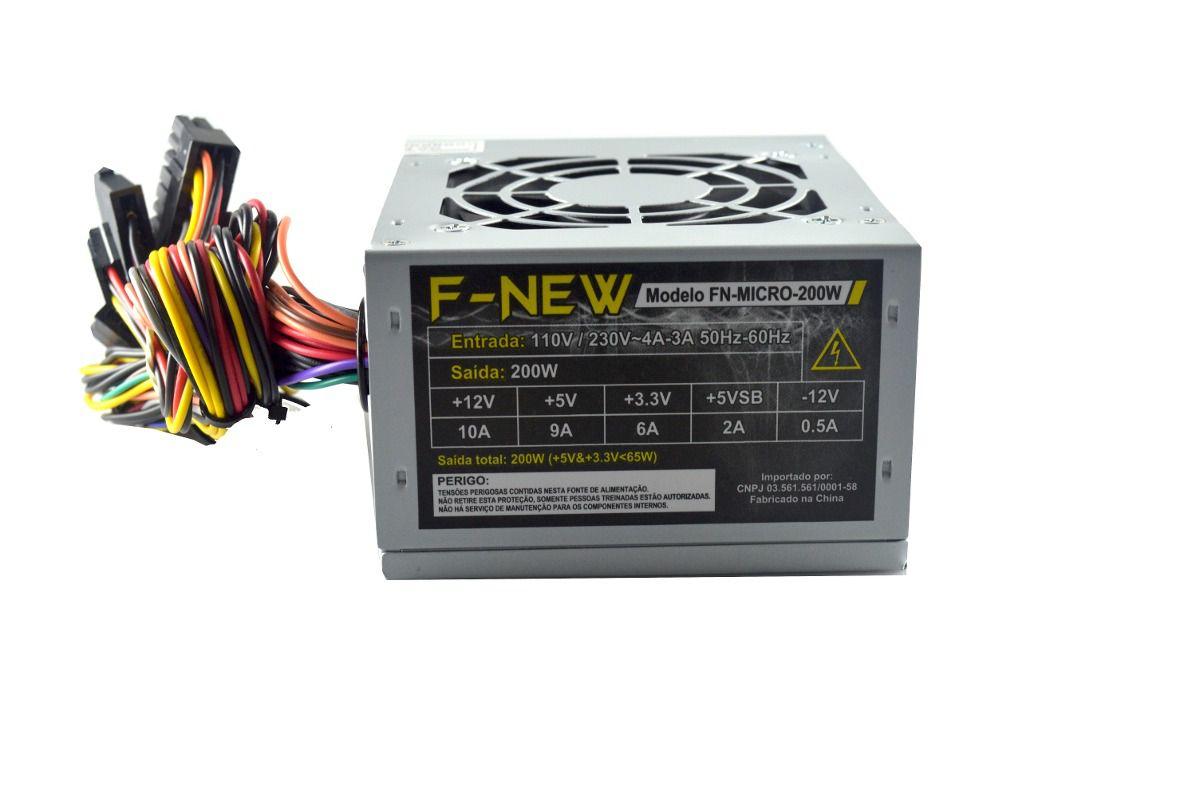 Fonte Mini Atx 200W F-New Fn F200